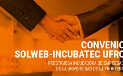 SolWeb y la Universidad de la Frontera, UFRO, firman convenio en apoyo a las PYMES.